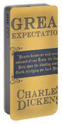 Great Expectations By Charles Dickens Book Cover Poster Art 1 Portable Battery Charger