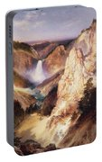Great Falls Of Yellowstone Portable Battery Charger