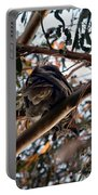 Great Horned Owl Looking Down  Portable Battery Charger