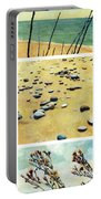 Great Lakes Triptych 2 Portable Battery Charger by Michelle Calkins