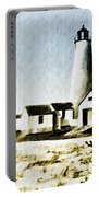 Great Point Lighthouse Nantucket Portable Battery Charger