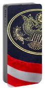 Great Seal Of The United States And American Flag Portable Battery Charger