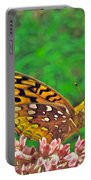 Great Spangled Fritillary Butterfly - Speyeria Cybele Portable Battery Charger