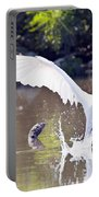 Great White Egret Fishing Sequence 2 Portable Battery Charger