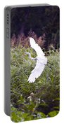 Great White Egret Flying 2 Portable Battery Charger