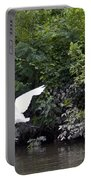 Great White Egret Flying 3 Portable Battery Charger