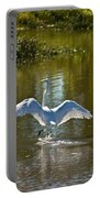 Great White Egret In Sunlight Portable Battery Charger