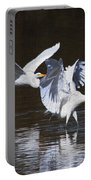 Greater Egrets Meet Up  Portable Battery Charger