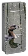 Grebe In The Reeds Portable Battery Charger