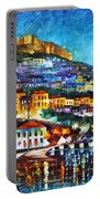 Greece Lesbos Island 2 Portable Battery Charger by Leonid Afremov