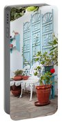 Greek Courtyard Portable Battery Charger