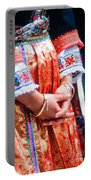 Greek Easter Holiday - Woman In Traditional Dress Portable Battery Charger