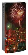 Greektown Night Portable Battery Charger