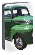 Green 1951 Ford F-1 Pick Up Truck Illustration  Portable Battery Charger