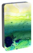 Green Abstract Art - Life Song - By Sharon Cummings Portable Battery Charger
