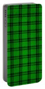 Green And Black  Plaid Cloth Background Portable Battery Charger