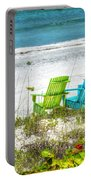 Green And Blue Chairs Portable Battery Charger