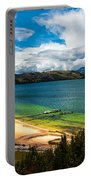 Green And Blue Lake Portable Battery Charger