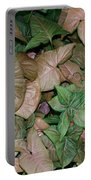 Green And Brown Leaves Portable Battery Charger