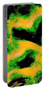 Green And Gold Pattern Abstract Portable Battery Charger