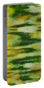Green And Yellow Abstract Portable Battery Charger