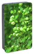 Green Apple On A Branch Portable Battery Charger