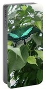 Green Banded Butterfly Portable Battery Charger