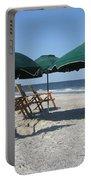 Green Beach Umbrellas Portable Battery Charger