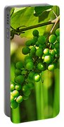 Green Berries Portable Battery Charger by Kaye Menner