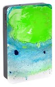 Green Blue Art - Making Waves - By Sharon Cummings Portable Battery Charger