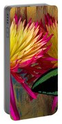 Green Butterfly On Fire Mums Portable Battery Charger