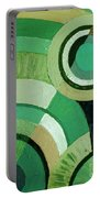Green Circle Abstract Portable Battery Charger