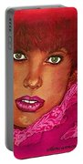 Green Eyed Redhead Portable Battery Charger