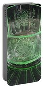 Green Glass Cup And Saucer Portable Battery Charger