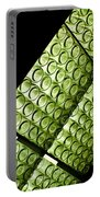 Green Glass Portable Battery Charger