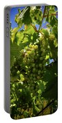 Green Grapes On The Vine Portable Battery Charger