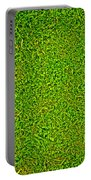 Green Grass Background Portable Battery Charger