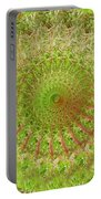 Green Grass Swirled Portable Battery Charger
