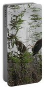 Green Heron At The Pond Portable Battery Charger