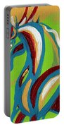Green Horse Portable Battery Charger by Genevieve Esson