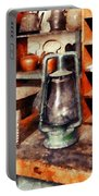 Green Hurricane Lamp In General Store Portable Battery Charger