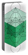 Green Hypercube Portable Battery Charger