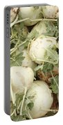 Green Kohlrabi Basket Display Portable Battery Charger