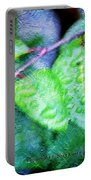 Green Leaf As A Painting Portable Battery Charger
