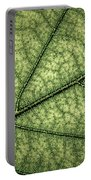 Green Leaf Texture Portable Battery Charger