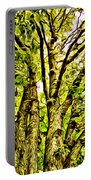 Green Leafy Trees Portable Battery Charger