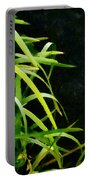 Green Leaves In Black Light Portable Battery Charger