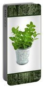 Green Oregano Herb In Small Pot Portable Battery Charger