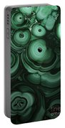 Green Patterns Of Malachite Portable Battery Charger