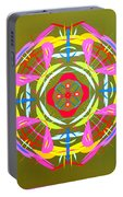 Green Pink Yellow Abstract Portable Battery Charger